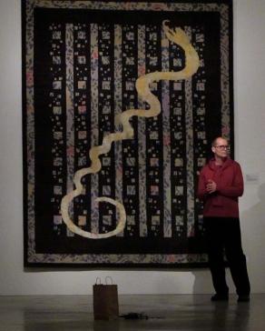 """Snake, Dark"" Milton Glaser for Lapchi, SMMoA  Premier"